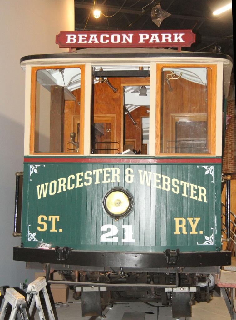 Beacon Park Trolley experience museum exhibit