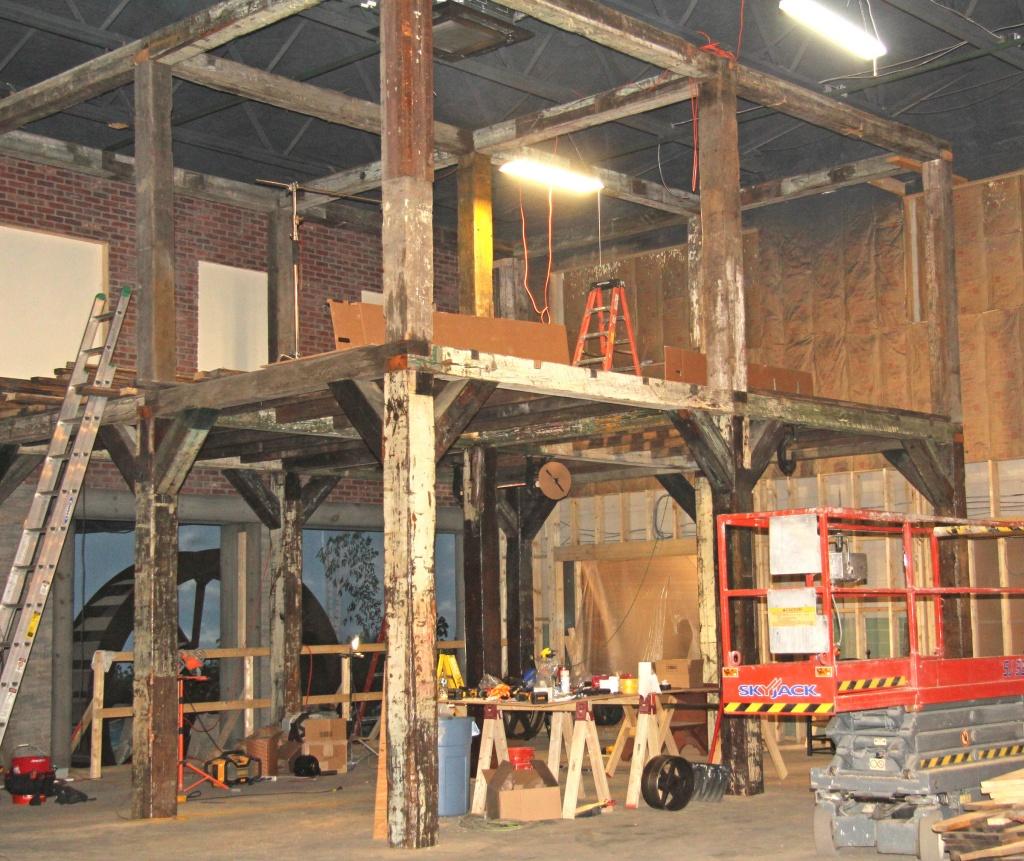 constructing the museum exhibits