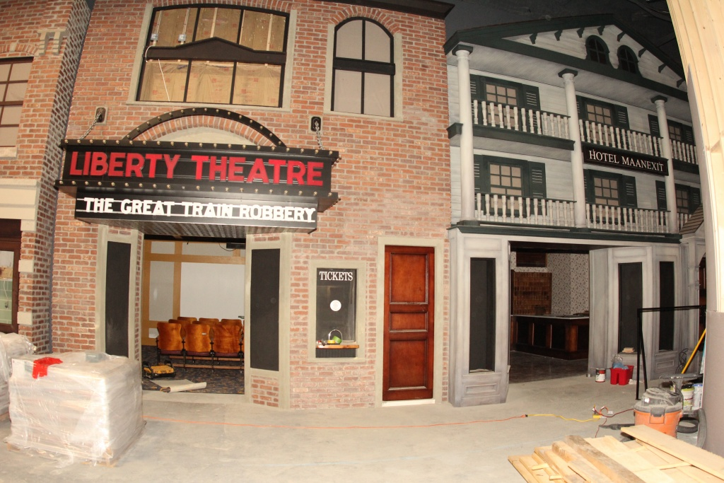 museum exhibit of the Liberty Theatre in Webster MA